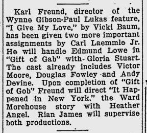 Giift of Gab, The Evening Independent, June 26, 1934