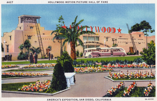 Hollywood Motion Picture Hall of Fame postcard