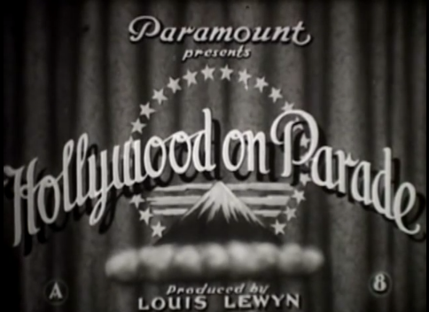 Hollywood parade of title card