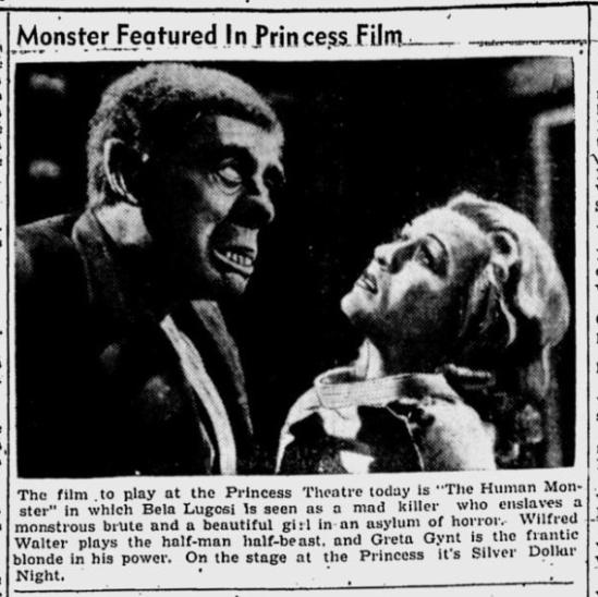 Human Monster, Kentucky New Era, September 5, 1940
