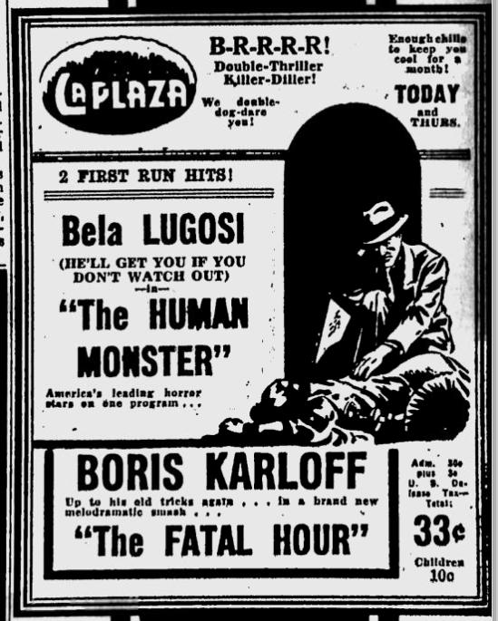 Human Monster, St. Petersburgh Times, July 10, 1940
