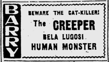 Human Monster, The Pitsburgh Post Gazette, October 28, 1948