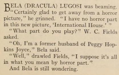 International House, Photoplay Magazine, June, 1933