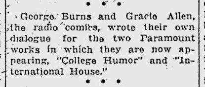 International House, Pitsburgh Post-Gazette, March 29, 1933