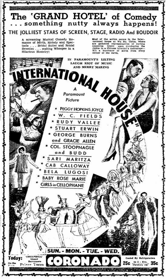 International House, Rockford Register-Republic, July 8, 1933