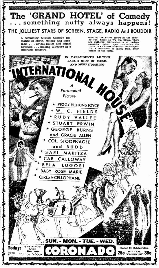 International House, Rockford Register-Republic, July 8, 1933