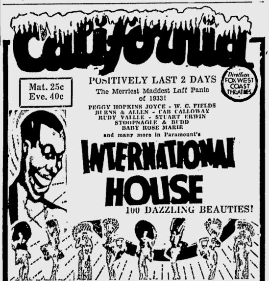 International House, San Jose Evening News, June 19, 1933