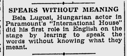 International House, Schenectady Gazette, April 6, 1933