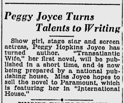 International House, Schenectady Gazette, March 30, 1933