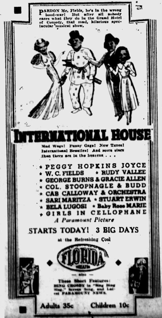 International House, St Petersburgh Times, June 10, 1933