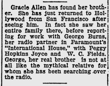 International House, The Evening Independent, February 27, 1933