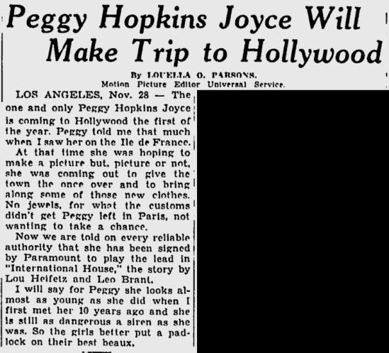International House, The Milwaukee Sentinel, November 29, 1932