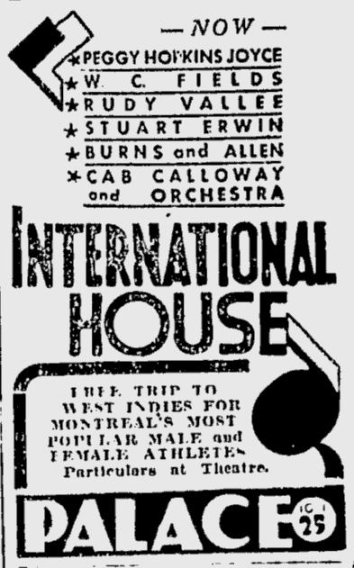 International House, The Montreal Gazette, June 19, 1933