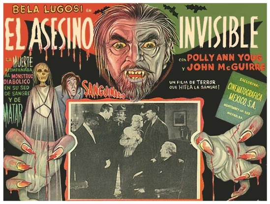 Invisible Ghost Mexican Lobby Card 1