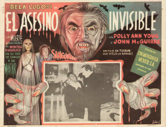 Invisible Ghost Mexican Lobby Card 2