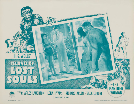 Island of Lost Souls 1958 Re-Release Lobby Card 1