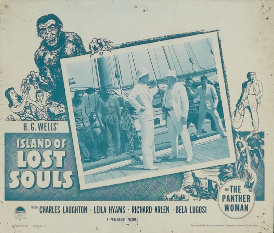 Island of Lost Souls 1958 Re-Release Lobby Card 2