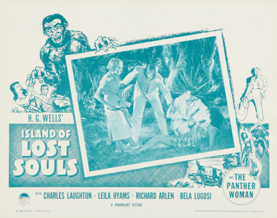 Island of Lost Souls 1958 Re-Release Lobby Card 3