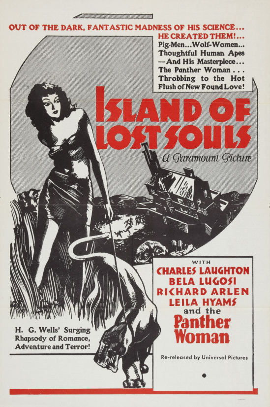 Island of Lost Souls 1958 Re-Release One Sheet
