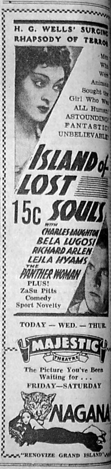 Island of Lost Souls Ad
