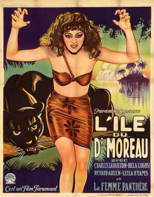 Island of Lost Souls Pre-War Belgium Poster