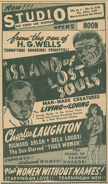 Island of Lost Souls Newspaper Ad 2