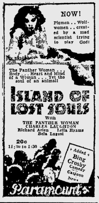 Island Of Lost Souls, The Desert News, January 7, 1933