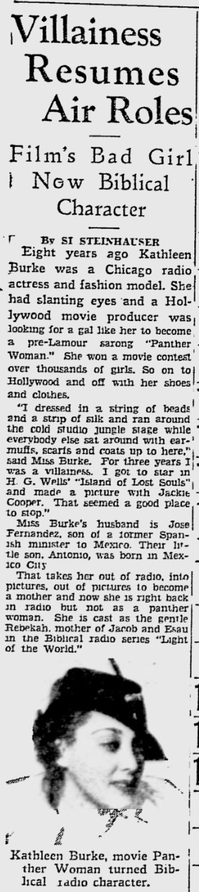 Island Of Lost Souls, The Pitsburgh Press, July 11, 1940