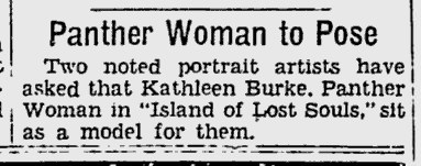 Island Of Lost Souls, The Pitsburgh Press, November 20, 1932