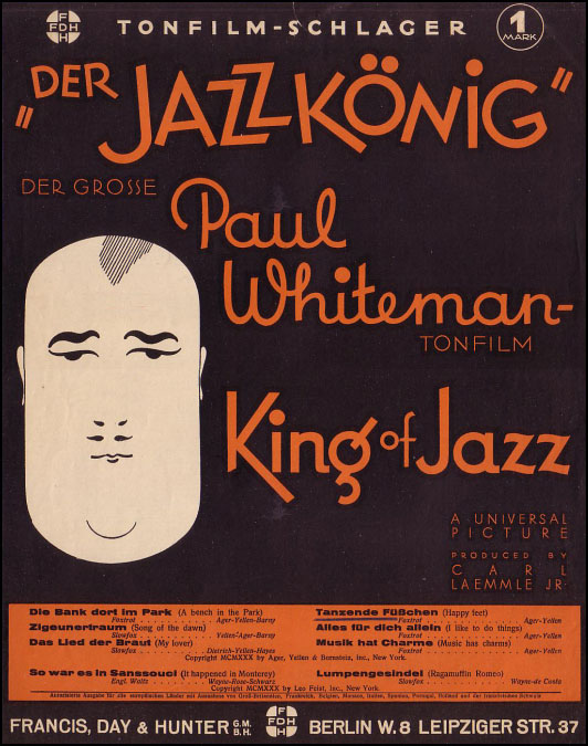 King of Jazz German Poster
