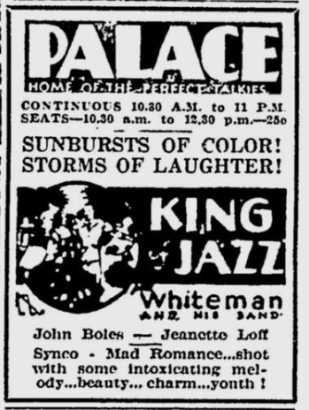 King of Jazz, The Montreal Gazette, July 14, 1930