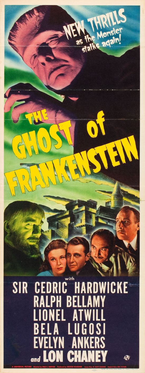 Ghost Of Frankenstein Insert