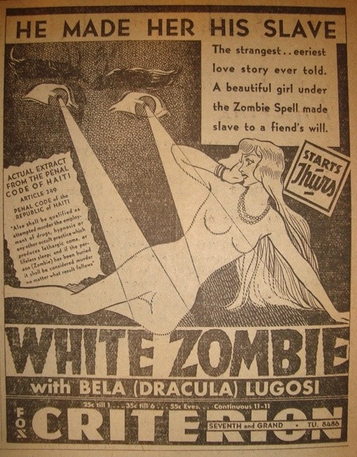 White Zombie, Los Angeles Examiner, Nov 16, 1932