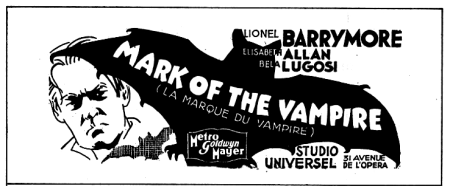 Mark of the Vampire French Ad