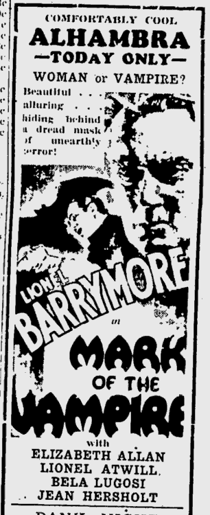 Mark Of The Vampire, Kentucky New Era, June 17, 1935