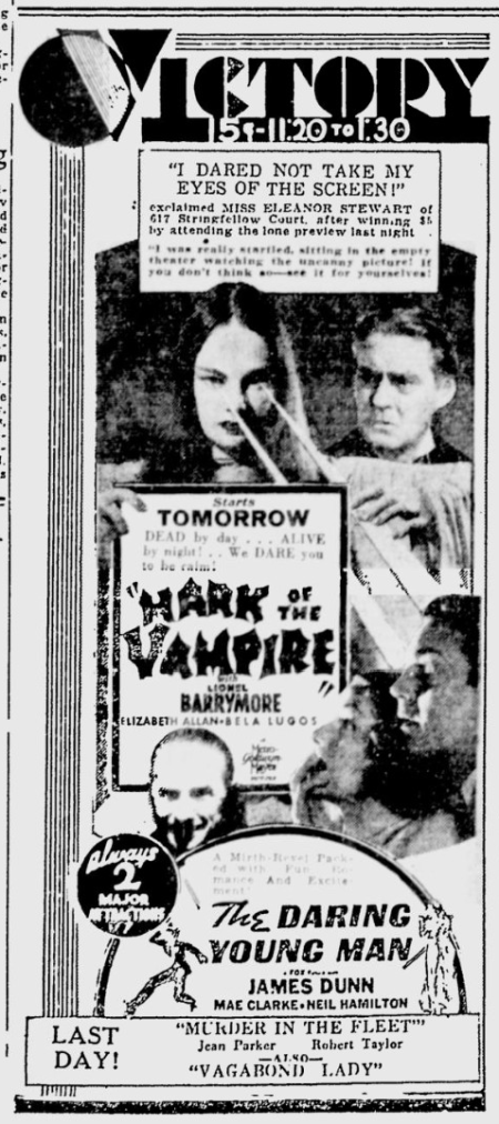 Mark Of The Vampire, The Desert News, July 26, 1935