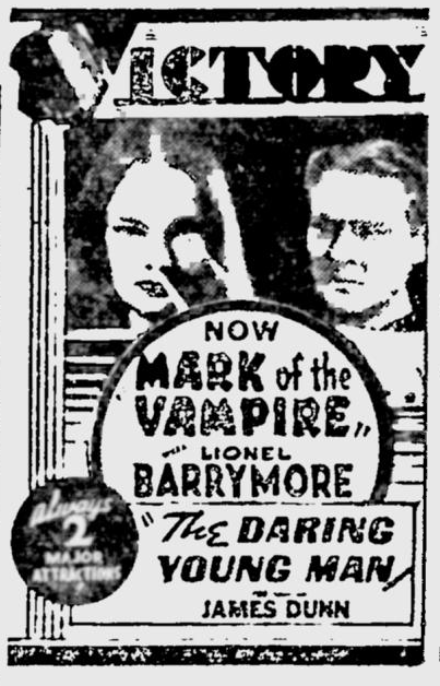 Mark Of The Vampire, The Desert News, July 27, 1935