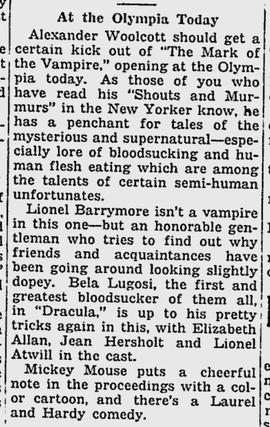 Mark Of The Vampire, The Miami News, May 14, 1935 b