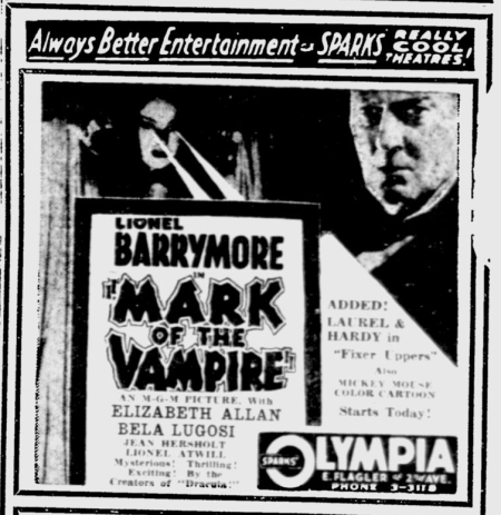 Mark Of The Vampire, The Miami News, May 14, 1935