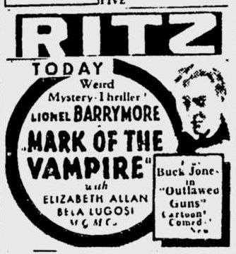 Mark of the Vampire, The Spokesman Review, December 12, 1935