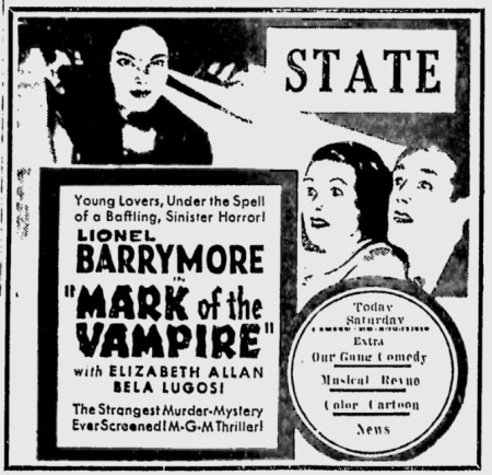 Mark Of The Vampire, The Telegraph, May 10, 1935