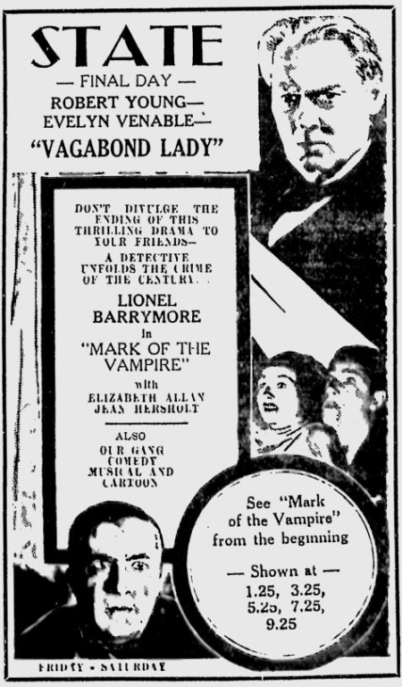 Mark Of The Vampire, The Telegraph, May 9, 1935