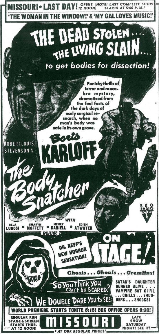 The Body Snatcher Missouri Cinema