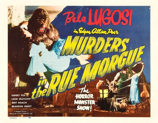 Murders in The Rue Morgue 1948 Re-Release Half Sheet