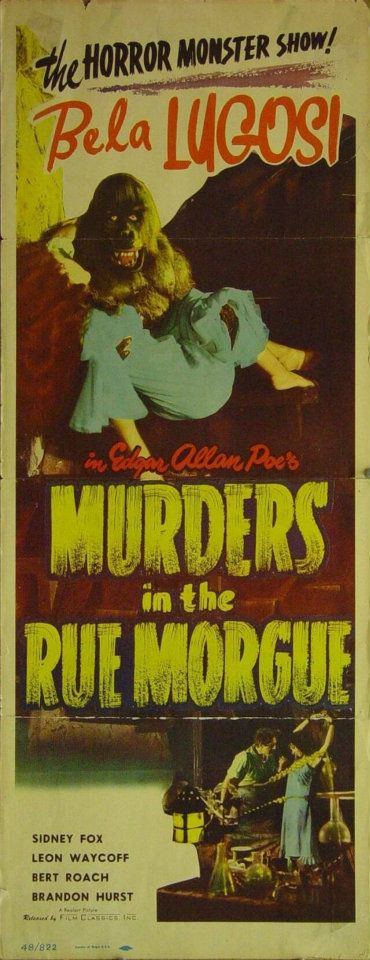 Murders in The Rue Morgue 1948 Re-Release Insert