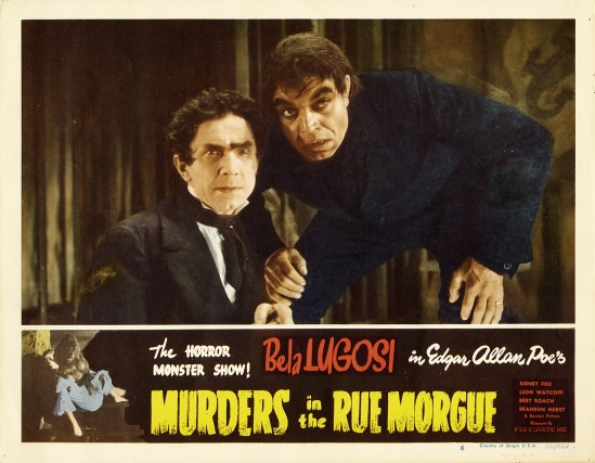 Murders in the Rue Morgue 1948 Re-release Lobby Card 1