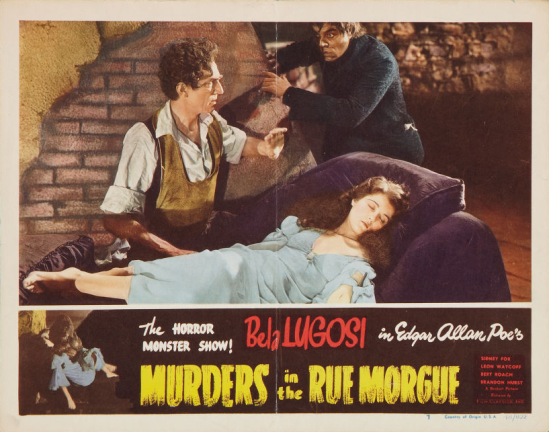 Murders in the Rue Morgue 1948 Re-Release Lobby Card 2