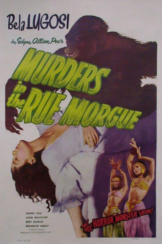 Murders in The Rue Morgue 1948 Re-Release One Sheet
