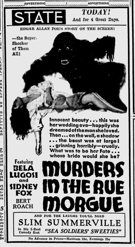 Murders in the Rue Morgue, Spokane Daily Chronicle, March 26, 1932 a