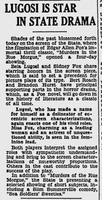 Murders in the Rue Morgue, Spokane Daily Chronicle, March 26, 1932 b
